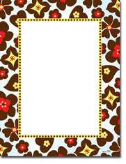 Paper So Pretty - Blank Designer Papers (Brown and Blue Floral) (DP792)